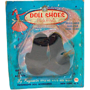 NRFP Madame Alexander Cissy Size Black High Heels, 1950's