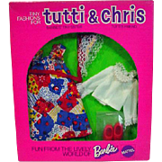 NRFB Mattel Tutti&Chris Outfit, Child's Birthday, 1976