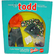 NRFB Mattel Todd Outfit, Pullover and Pants, 1975