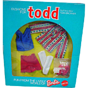 NRFB Mattel Todd Outfit, Big Holiday, 1976