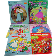 Lot of Vintage Disney Paper Doll Books, Uncut, 1969-1991