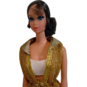 1971 Mattel Talking Barbie, Brunette Hair, Original Outfit