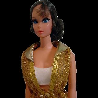 1971 Mattel Talking Barbie, Brunette Hair, Original Outfit