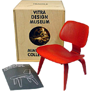 "Vitra Design Museum Miniature Eames Chair for 12"" Fashion Dolls, 1990's"