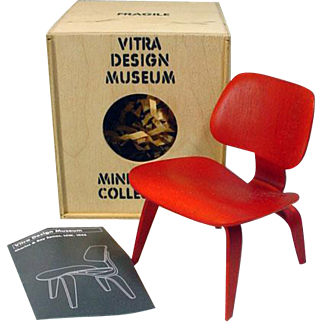 """Vitra Design Museum Miniature Eames Chair for 12"""" Fashion Dolls, 1990's"""
