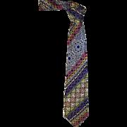 Men's Gianni Versace Silk Tie, Vintage 1980's
