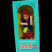 Vintage Mattel NRFB Todd, Foreign Morket, 1976