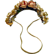 Vintage 1950's Madame Alexander Elise Flower Head Band