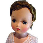 Vintage Madame Alexander Cissy Doll in Hostess Outfit, 1950's