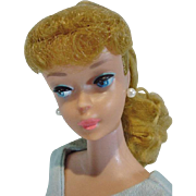 Vintage Mattel Barbie Ash Blond PonyTail, #6, 1963