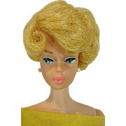 Mattel Lemon Blond Barbie Side Part Bubble, 1964