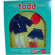 NRFB Mattel Todd Outfit, A Trip, 1974, European Market