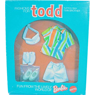 Vintage Mattel Todd NRFB Outfit, Well Dressed, 1974, European Market