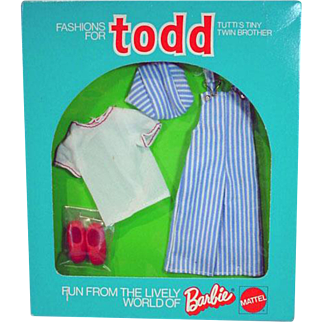 Vintage NRFB Mattel Todd Outfit, To The Playground, 1975, European