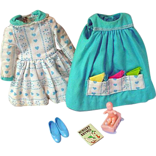 Vintage Mattel Skipper Outfit, Let's Play House, 1966