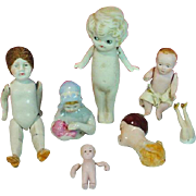 Collection of Small Antique Bisque/China Dolls, Estate Sale Find!