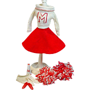 Vintage Mattel Barbie Outfit, Cheerleader, 1964