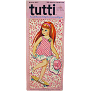 Whitman Tutti, Barbie & Skipper's Tiny Sister, Paper Dolls, Cut, 1967