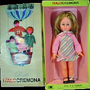 Rare MIB Italocremona Doll, Clara, 1968