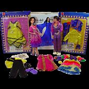 Vintage Mattel Donny&Marie Osmond Dolls w/Case and Clothing, 1977