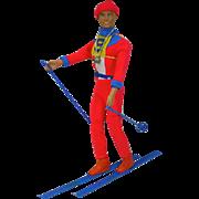 Vintage Mattel Gold Medal Ken Skier, 1975