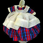 Original Sandra Sue Taffeta Dress with Pinafore, 1956