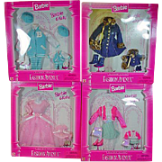 Lot of Mattel Barbie & Kelly Fashion Avenue Outfits, NRFB, 1996