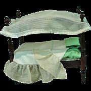 Original Sandra Sue Mahogany Canopy Bed, 1953