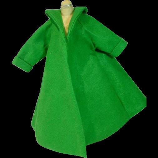 Madame Alexander Cissy Size Green Felt Swing Coat