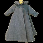 Madame Alexander Cissy Size Blue Gaberdine Swing Coat