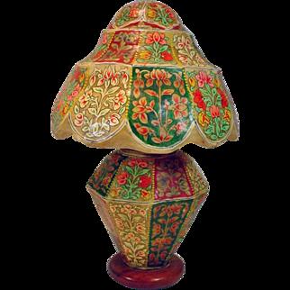 """Unique, Hand Painted """"Hide """" Table Lamp..."""