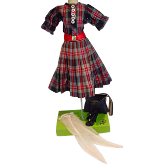 Vintage Madame Alexander Cissy Size Day Dress Ensemble, 1950's