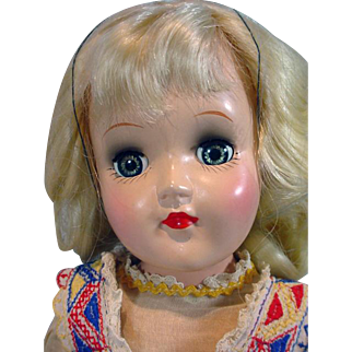 Ideal 1950 Platinum Blond Toni Doll, 14 Inch