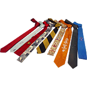 "Collection of Men's Vintage Ties, Early 1960's ""Mad Men"" Look"