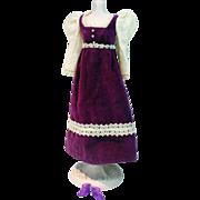 VIntage Mattel Barbie Outfit, Victorian Velvet, 1971