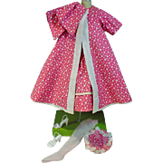 Vintage Reversible Swing Coat, Dress, Hat and Accessories, Perfect for Cissy Doll