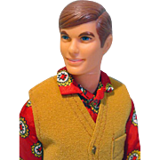 Mattel 1968 Talking Ken in The Suede Scene