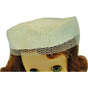 Madame Alexander Elise Size Pill Box Hat, 1950's