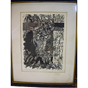 Original Signed Pen and Ink Drawing, Victim Metamorphosis by Lynda Kalman, 1967