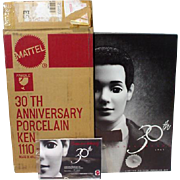 Mattel MIB 30th Anniversary Porcelain Ken Doll