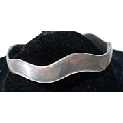 """Mexican Silver """"Wave"""" Cuff Bracelet, 1970's"""