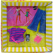 Mattel NRFB Tutti Outfit, Stripes 'N Slacks, 1970