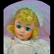 Madame Alexander MIB Portrette Cissette Bride, 1990's