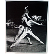 Original Steven Caras Photograph of Mikhail Baryshnikov & Karin Von Aroldinger, 1970's