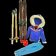 Vintage Mattel Barbie Outfit, Ski Queen, 1963