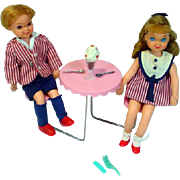 Mattel Tutti and Todd Sundae Treat Set, 1966