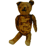 Antique Straw Stuffed Teddy Bear, Well Loved!