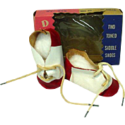 MIB Tow Tones Doll Saddle Shoes for 18-22 Inch Dolls, Vintage