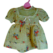 Charming Cotton Voile Doll Dress, 1940's
