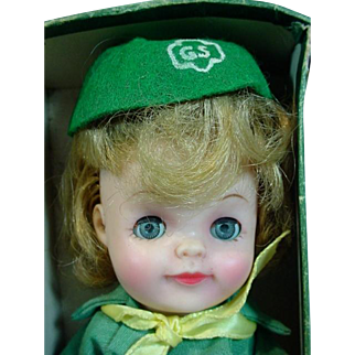 """Effanbee Official Junior Girl Scout 9"""" Doll, 1965"""